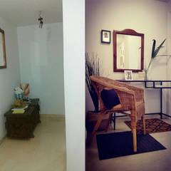 Piso próximo a los Reales Alcázares de Sevilla reformado parcialmente para adaptación a apartamento turístico: Pasillos y vestíbulos de estilo  de SH Interiorismo,