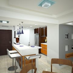 Residencial: Salas / recibidores de estilo  por Vanguardia Arquitectónica, Moderno