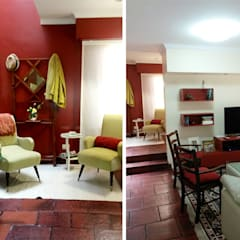 CALOR DE HOGAR: Livings de estilo  por Majo Barreña Diseño de Interiores,Colonial
