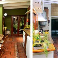 CALOR DE HOGAR: Cocinas de estilo  por Majo Barreña Diseño de Interiores