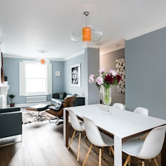 Oliphant Street, Queen's Park :  Dining room by Grand Design London Ltd