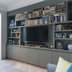 Dorlcote Road, Wandsworth:  Media room by Grand Design London Ltd