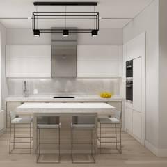 ÖZHAN HAZIRLAR İÇ MİMARLIK – YAŞAMA MEKANI MUTFAK ALANI:  tarz Mutfak