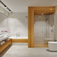 ÖZHAN HAZIRLAR İÇ MİMARLIK – Banyo: minimal tarz tarz Banyo