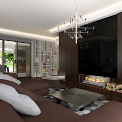 Erden Ekin Design – 4+1 Salon:  tarz Oturma Odası