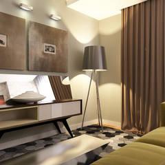 Erden Ekin Design – Oturma Odası: endüstriyel tarz tarz Oturma Odası