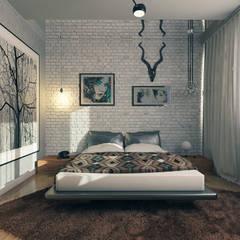 Erden Ekin Design – Sn. Ercan Balcı Konutu:  tarz Yatak Odası