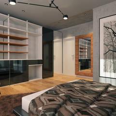 Erden Ekin Design – Yatak Odası: endüstriyel tarz tarz Yatak Odası
