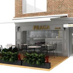 PRAGA SALÓN: Espacios comerciales de estilo  por tresarquitectos