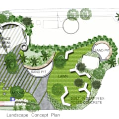 Commercial head office, Kalina:  Commercial Spaces by Land Design landscape architects,