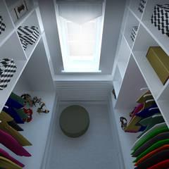 Dom w Walendowie: styl , w kategorii Garderoba zaprojektowany przez Progetti Architektura