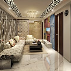 3BHK Flat Interior Design and Decorate at Alwar:  Living room by Design Consultant