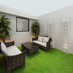 3BHK Flat Interior Design and Decorate at Alwar:  Terrace by Design Consultant