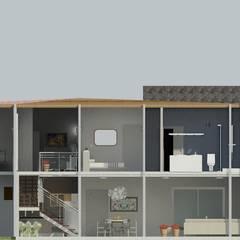 Villa Los Andes: Pasillos y vestíbulos de estilo  por Diseño Store, Minimalista