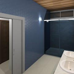 baño de la hab principal: Baños de estilo  por Diseño Store