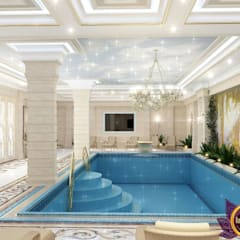 Pool Design of Katrina Antonovich, Paradise Oasis in Your Own Home:  Spa by Luxury Antonovich Design
