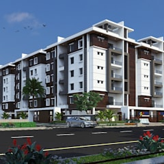 Mourya Palace:  Houses by Mourya Constructions