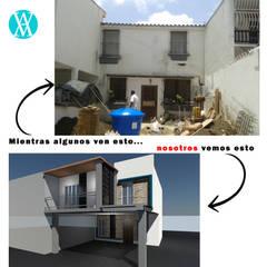 Remodelación de fachada: Casas de estilo  por Vanguardia Arquitectónica