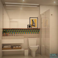 Bathroom by CMS.ARQ - Camila Machado Salmória, Tropical