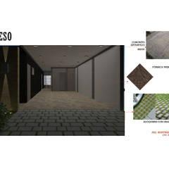 INTERIORISMO DE UNA VIVIENDA UNIFAMILIAR: Garajes y galpones de estilo  por Arq. Marynes Salas,