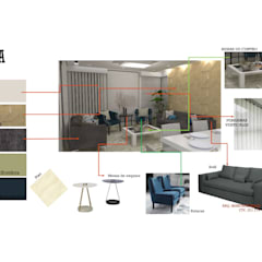INTERIORISMO DE UNA VIVIENDA UNIFAMILIAR: Salas / recibidores de estilo  por Arq. Marynes Salas, Moderno