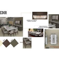 INTERIORISMO DE UNA VIVIENDA UNIFAMILIAR: Comedores de estilo  por Arq. Marynes Salas