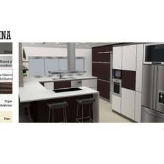 INTERIORISMO DE UNA VIVIENDA UNIFAMILIAR: Cocinas de estilo  por Arq. Marynes Salas,