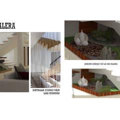 INTERIORISMO DE UNA VIVIENDA UNIFAMILIAR: Pasillos y vestíbulos de estilo  por Arq. Marynes Salas, Moderno