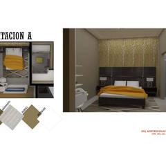 INTERIORISMO DE UNA VIVIENDA UNIFAMILIAR: Cuartos de estilo  por Arq. Marynes Salas, Moderno