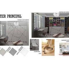INTERIORISMO DE UNA VIVIENDA UNIFAMILIAR: Closets de estilo  por Arq. Marynes Salas