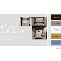 INTERIORISMO PARA UNA VIVIENDA UNIFAMILIAR DE 2 NIVELES: Cuartos de estilo  por Arq. Marynes Salas, Moderno
