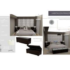 3ra Propuesta de Habitacion Principal: Cuartos de estilo  por Arq. Marynes Salas