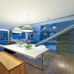 House in Shatin : modern Dining room by Millimeter Interior Design Limited