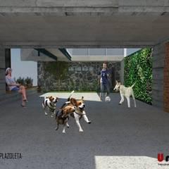 Ho.Av.: Garajes de estilo minimalista por Urbe. Taller de Arquitectura y Construcción