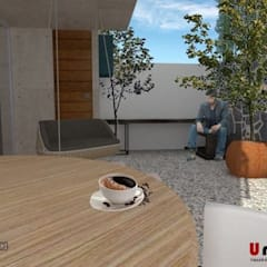 Ho.Av.: Jardines de invierno de estilo  por Urbe. Taller de Arquitectura y Construcción