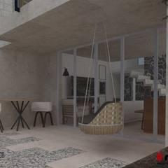 Ho.Av.: Jardines de invierno de estilo minimalista por Urbe. Taller de Arquitectura y Construcción
