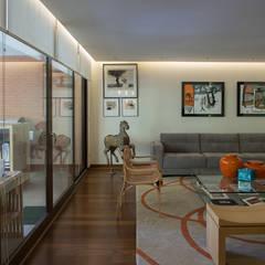 vista living y terraza: Livings de estilo  por Thomas Löwenstein arquitecto