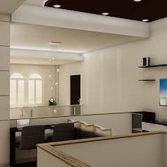 : Salas de entretenimiento de estilo  por Sixty9 3D Design, Minimalista