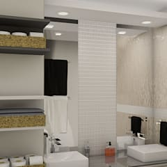 : Baños de estilo  por Simon Lopez Diseños 3D