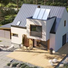 Projekt domu Neli W2 ENERGO PLUS - komfort na najwyższym poziomie : styl , w kategorii Domy zaprojektowany przez Pracownia Projektowa ARCHIPELAG