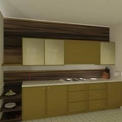 Kitchen (3 BHK, Lodha): classic Kitchen by Kreative design studio