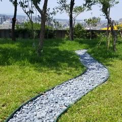 健康步道搬回家!   DIY:  庭院 by 霖森園藝