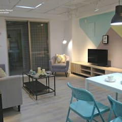 Living room by 以恩設計, Scandinavian
