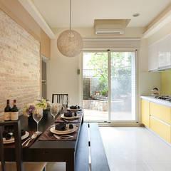 غرفة السفرة تنفيذ 芸采創意空間設計-YCID Interior Design, إستوائي