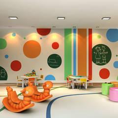 Brinquedotecas: Spas  por Híbrida Arquitetura, Engenharia e Construção