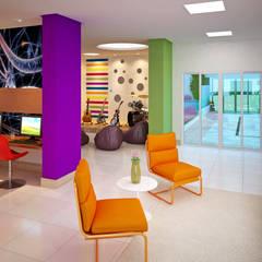 Ruang Multimedia oleh Híbrida Arquitetura, Engenharia e Construção, Modern