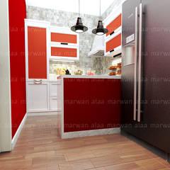 لقطات بسيطة من تصميماتنا الداخلية:  مطبخ تنفيذ EHAF Consulting Engineers