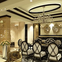 Dining room by EHAF Consulting Engineers