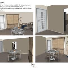 Réaménagement d'un salon/salle à manger: Salle à manger de style de style Classique par L'Oeil DeCo