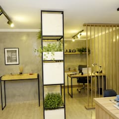 Study/office by Jorge Machado arquitetura, Industrial Concrete